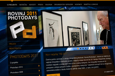 Photodays 2011 website